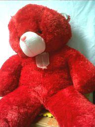 boneka bear besar warna merah
