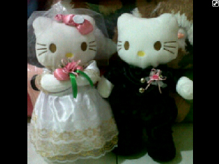 boneka hello kitty pengantin