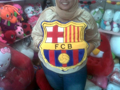 bantal club bola barca