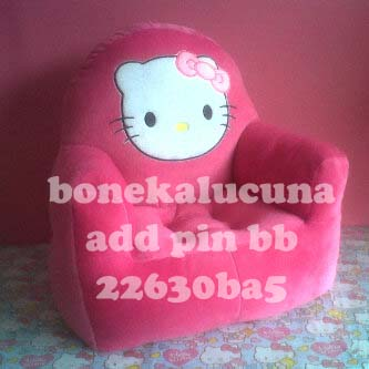 sofa anak karakter hello kitty pink
