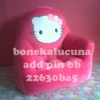 sofa anak karakter hello kitty pink