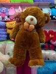 boneka beruang besar coklat tua