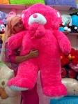 boneka beruang besar pink tua