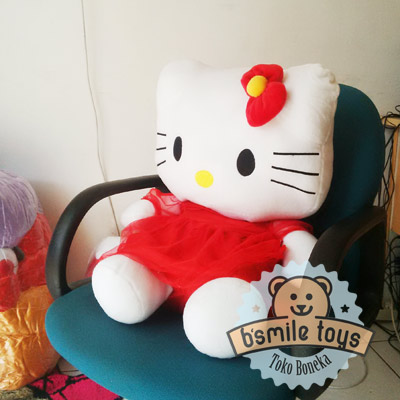 boneka-hello-kitty-gaun-xl-merah