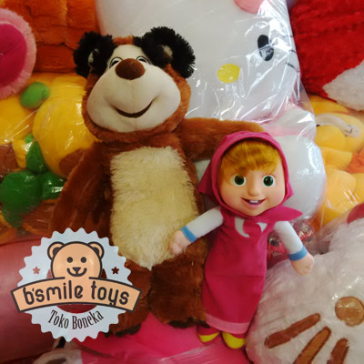 jual boneka masha and bear