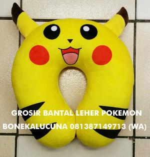 grosir bantal leher pokemon